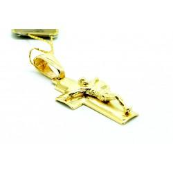 Krzyżyk z żółtego  złota