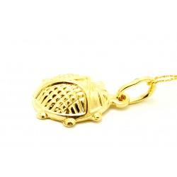 Wisiorek z żółtego złota