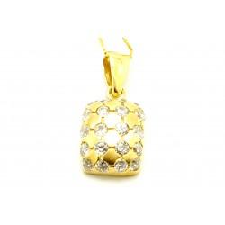Wisiorek z żółtego  złota z cyrkoniami