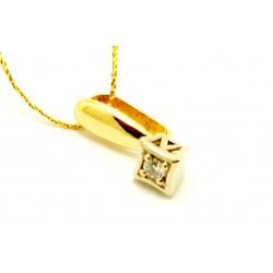 Wsiorek z żółtego złota z brylantem 0,03ct