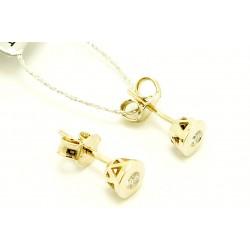 Kolczyki z białego złota z brylantami 0,06ct
