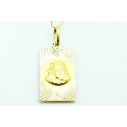 Medalik z żółtego złota dwustronny