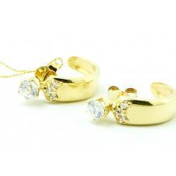 Kolczyki z żółtego złota