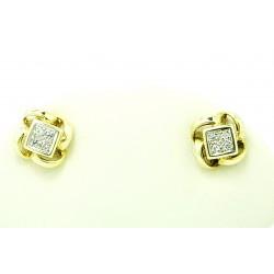 Kolczyki z żółtego złota z brylantami
