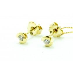 Kolczyki  z żółtego złota z cyrkoniami