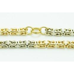 Łańcuszek złoty ręcznie robiony KRÓLEWSKI