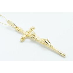 Krzyżyk z żółtego złota PAPIESKI