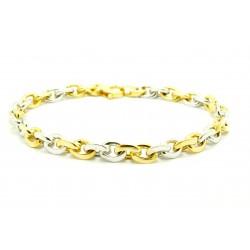 Bransoleta z białego i żółtego złota