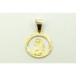 Medalik z żółtego złota