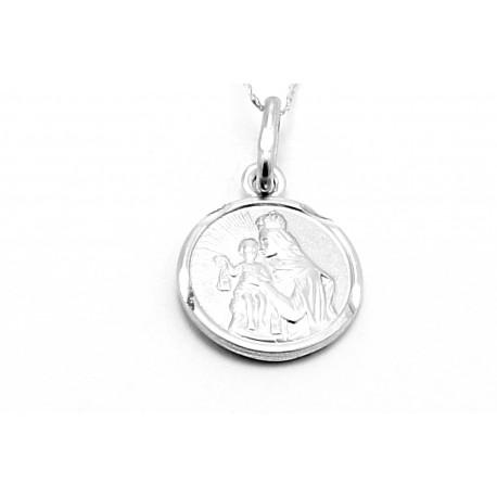 Medalik z białego złota