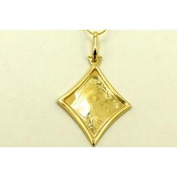 Medalik Cudowny z żółtego złota