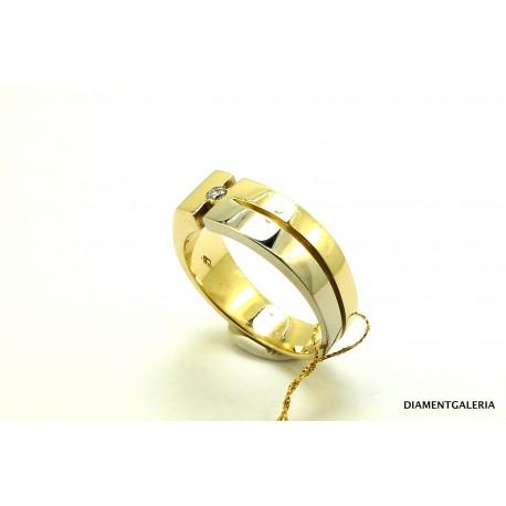 Sygnet męski z żółtego złota