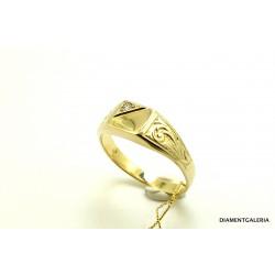 Sygnet męski z żółtego i białego złota
