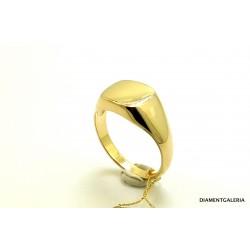Sygnet złoty z granatem