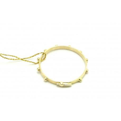 Różaniec na palec z żółtego złota