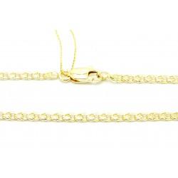 Łańcuszek z żółtego złota ręcznie robiony