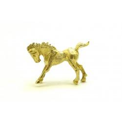 Broszka z żółtego złota z perłą i cyrkoniami