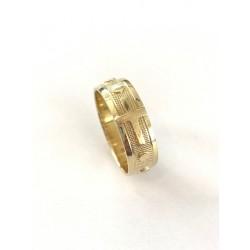 Różaniec na palec z żółtego złota roz.26